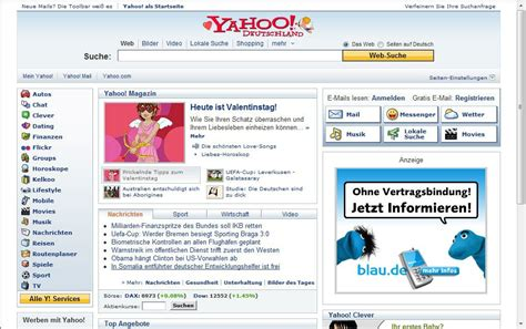 Yahoo Search Germany Cybernotes Search Engines Around The World