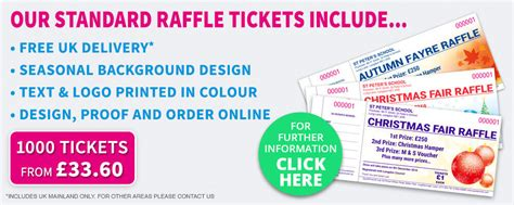 printing raffle tickets raffle ticket printing specialists amazing value