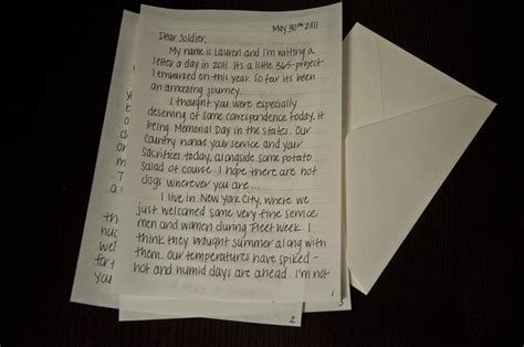 Sending Letters To Soldiers