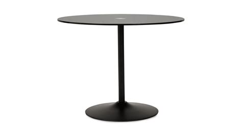 Table Ronde Noir by Alofi Table Ronde Noir Plateau Verre