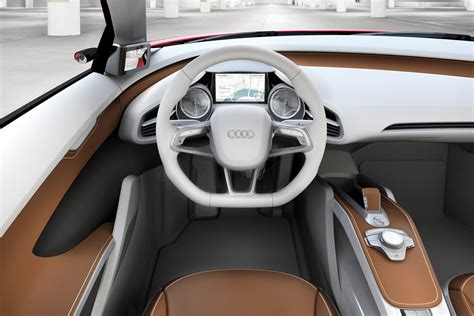 Audi R8 White With Interior by Audi R8 E Interior Images