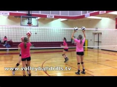 volleyball setting drills youtube volleyball drill blocking transition warmup volleyball