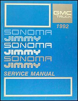 car repair manual download 1992 gmc jimmy electronic throttle control 1992 gmc fuel emissions manual original pickup van motorhome