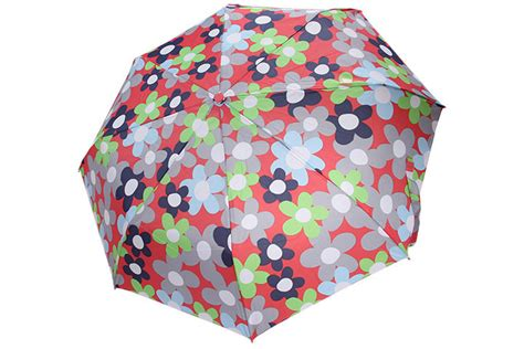 Foldable Print Umbrella custom printing pongee cover auto umbrella with 3 section