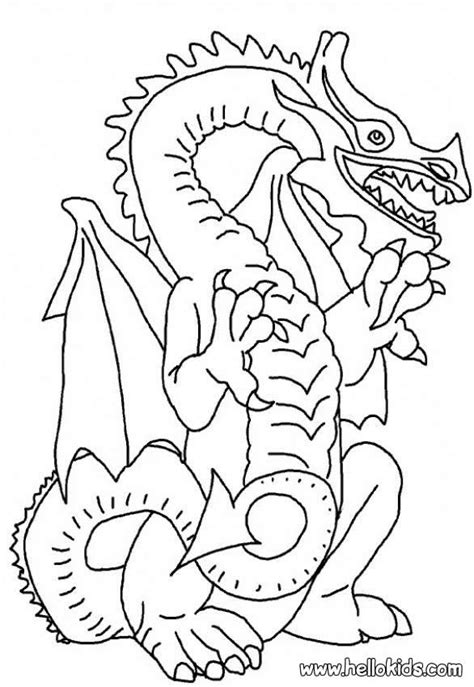 coloring pictures of scary dragons scary dragon coloring pages hellokids com