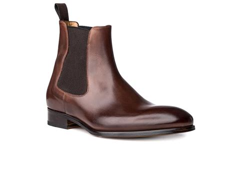boot shoes chelsea boot in brown antique italian leather