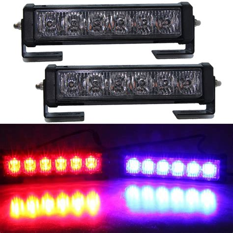 led strobe lights for motorcycles 2pcs 36w 12v strobe car warning light truck motorcycle led