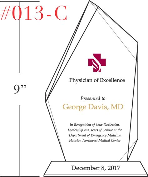 physician of excellence award wording sle by crystal
