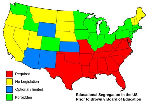 educational maps of the united states educational segregation in the united states prior to