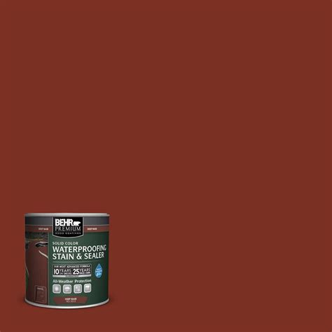 behr solid color waterproofing wood stain behr premium 8 oz sc 330 redwood solid color