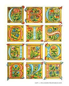 Illuminated Alphabet Templates by Illuminated Manuscript Letters Decorative Lettering