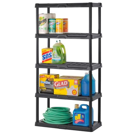 heavy duty plastic shelving five shelf in heavy duty