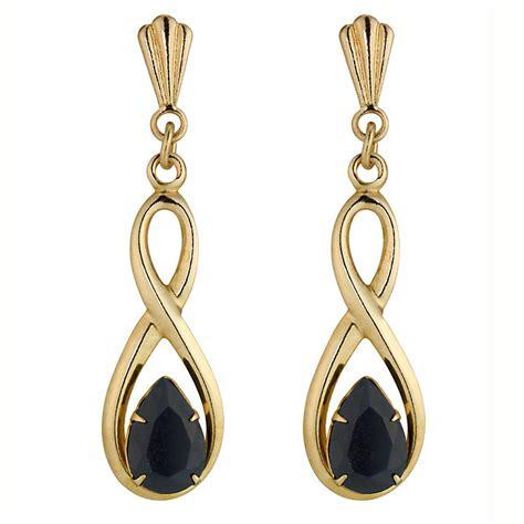 9ct gold sapphire drop earrings h samuel