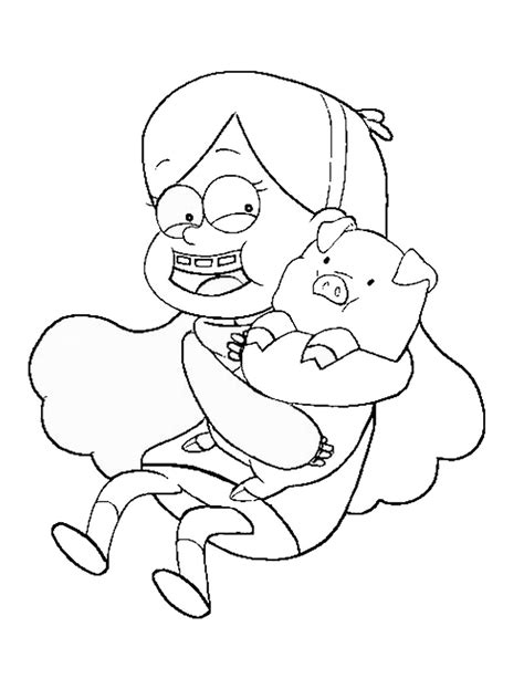 free coloring pages of gravity falls dipper