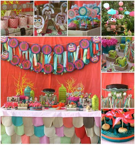 Owl Birthday Decorations by Kara S Ideas Girly Owl Birthday Planning Ideas