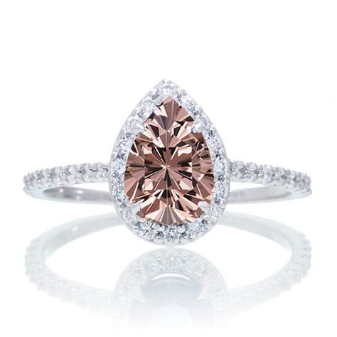 1 5 carat classic pear cut morganite with