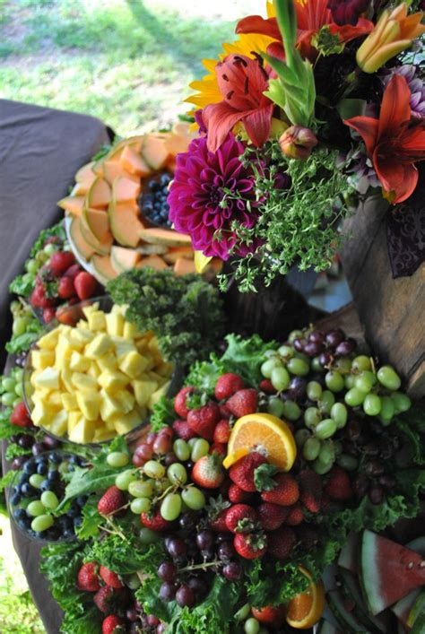 country wedding fruit table display wvevents food