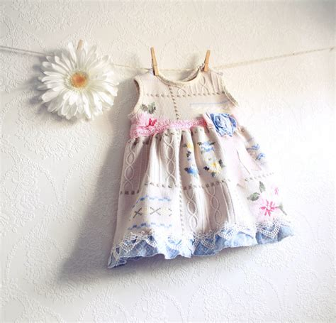 shabby chic girl s dress 18 months baby clothes by myfairmaiden