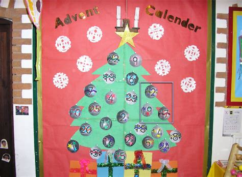 advent calendar classroom display photo sparklebox