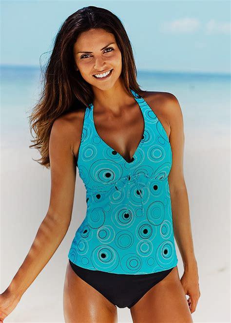 Set Patterned Top Tankini tankinis tankini tops briefs swimwear365