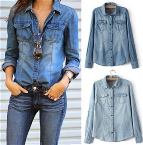 Aveda Top Blouse Wanita Trendy 2017 moda blusas 187 blusas denim 2017 3