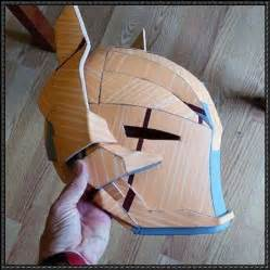 Paper Helmet Template by Batman Arkham Helmet For Free Papercraft