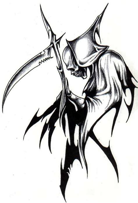 tribal reaper tattoo designs tribal grim reaper cool free images at