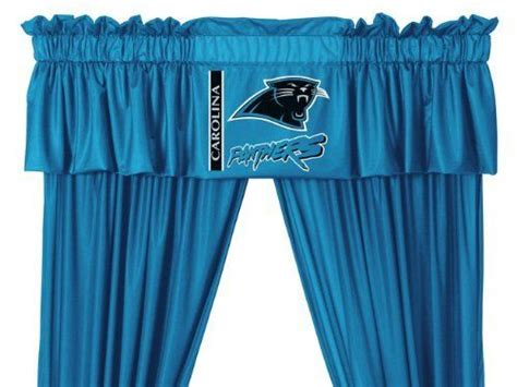 carolina curtains carolina panthers window treatments valance and drapes by