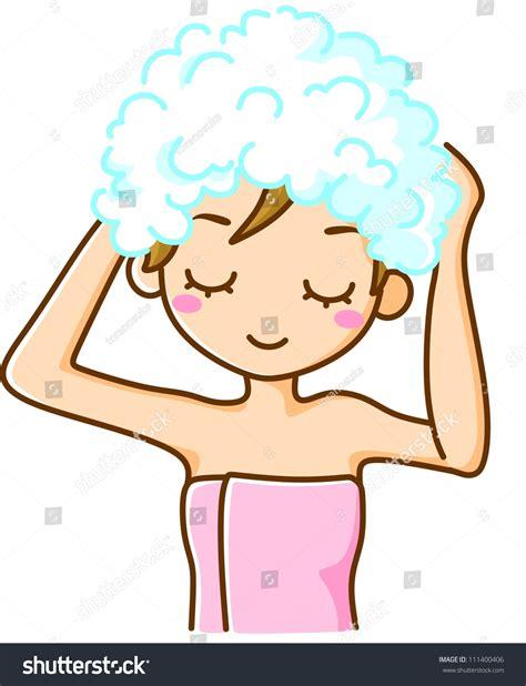 Spa Shower Bath shampoo woman stock illustration 111400406 shutterstock