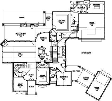 house plans with portico garage european style house plans 4671 square foot home 2 story 4 bedroom and 4 bath 3