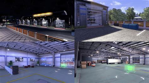 large garage custom large garage type b ets 2 mods euro truck