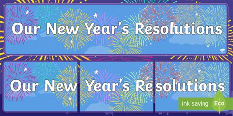 new year twinkl our new year s resolutions display banner display