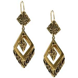 14kt gold earrings etruscan style 14kt gold earrings at 1stdibs