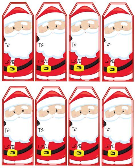 santa claus gift tags printable christmas tags instant