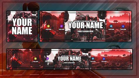 Free Fortnite Rev Template Free Photoshop Template Avatar Banner Header Youtube Fortnite Template