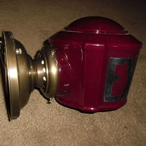 Antique Exit Light Fixture Antique Exit Wall Light Fixture From Sherlocksantiquelights On Ruby