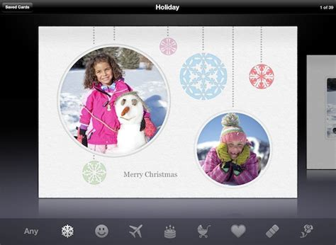 printable christmas cards for ipad cards gains ipad compatibility and multi photo layouts