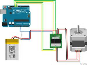 fritzing project stepper motor for arduino