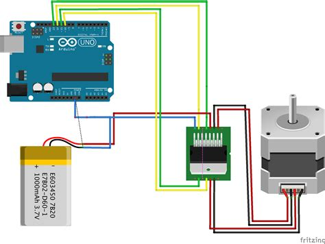 tutorial l298n arduino fritzing project stepper motor for arduino