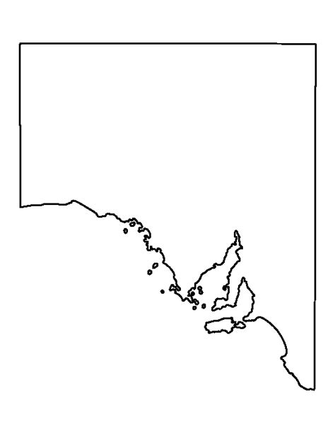 Blank Outline Map South Australia by South Australia Pattern Use The Printable Outline For Crafts Creating Stencils Scrapbooking
