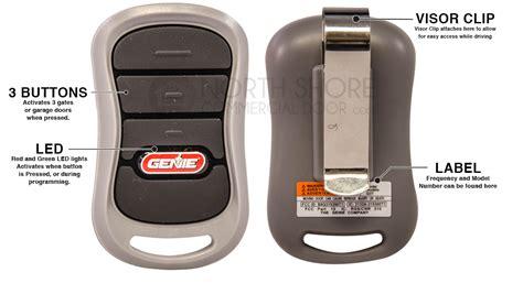 genie gt bx intellicode  button garage door opener remote