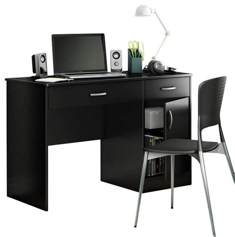 south shore axess small computer desk in black