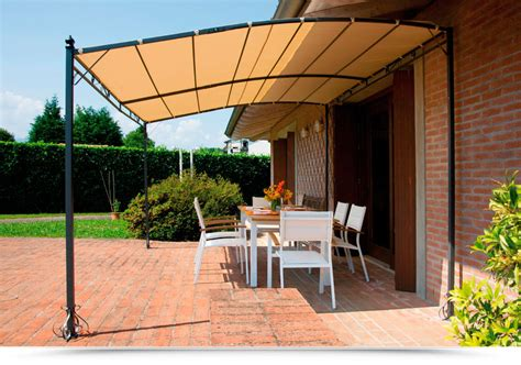 gazebo a muro gazebo pergola 4x3 giardino terrazza top design telo