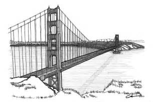 Golden Gate Bridge Is A Drawing By Calvin Durham Which Was Uploaded On  sketch template