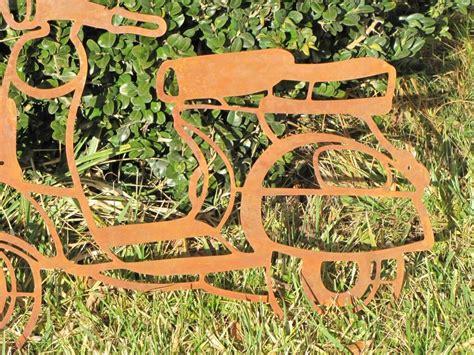 Garten Deko Roller by Edelrost Wandbild Motorrad Garden Dekoshop