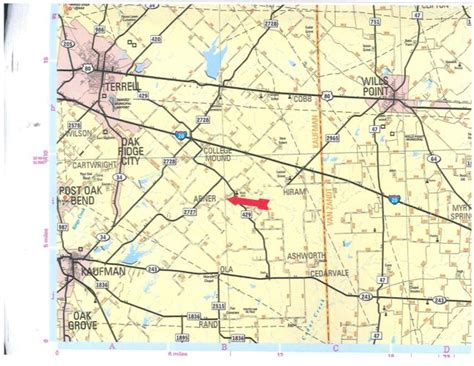 map of kaufman texas 10672 county road 133 kaufman texas 75142 acreage w house for sale on landsofamerica
