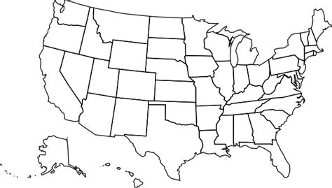 blank us map blank us map clip art at clker com vector clip art