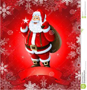 greeting card with santa claus royalty free stock photography image 33671117