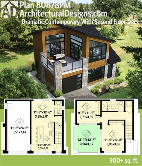 modern tiny house plans plan 80878pm dramatic contemporary with second floor deck