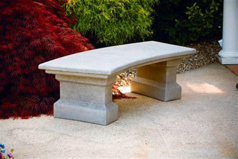 cement garden bench classic curved cement garden bench large